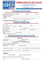 Recas Aplication form